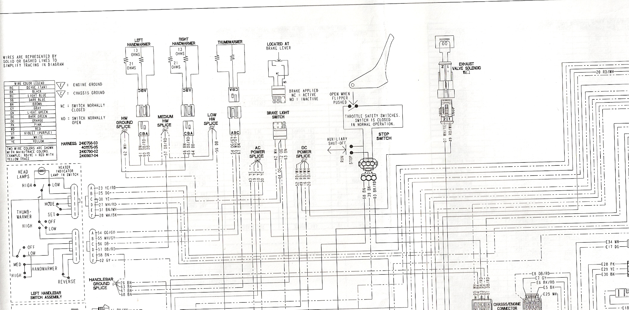 polaris 07 iq 600 wiring schematic 07 polaris iq 700 Polaris Snowmobile  Engine Diagrams 2002 Polaris Snowmobile Wiring Diagrams