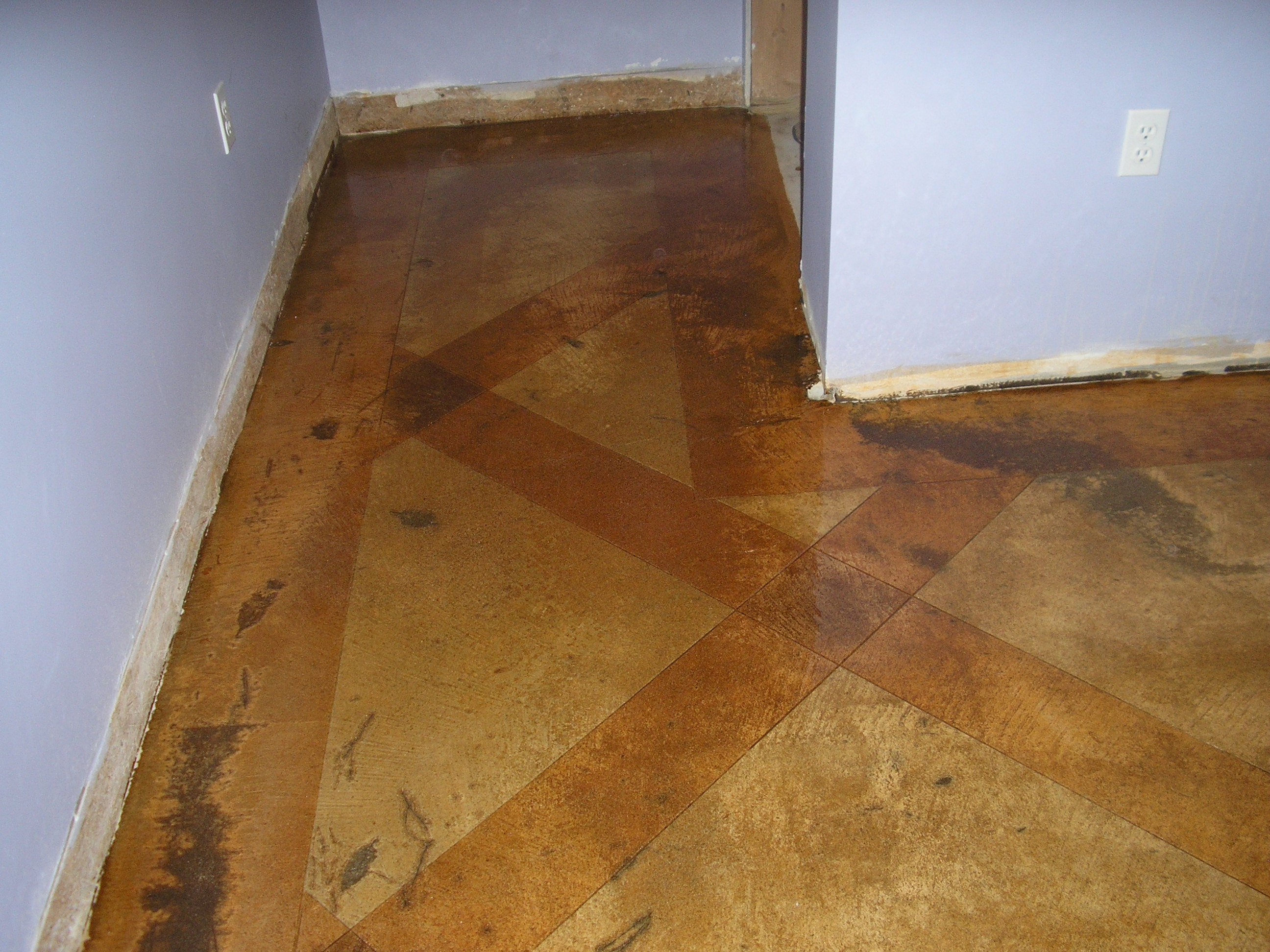 acid stained concrete floors countertops
