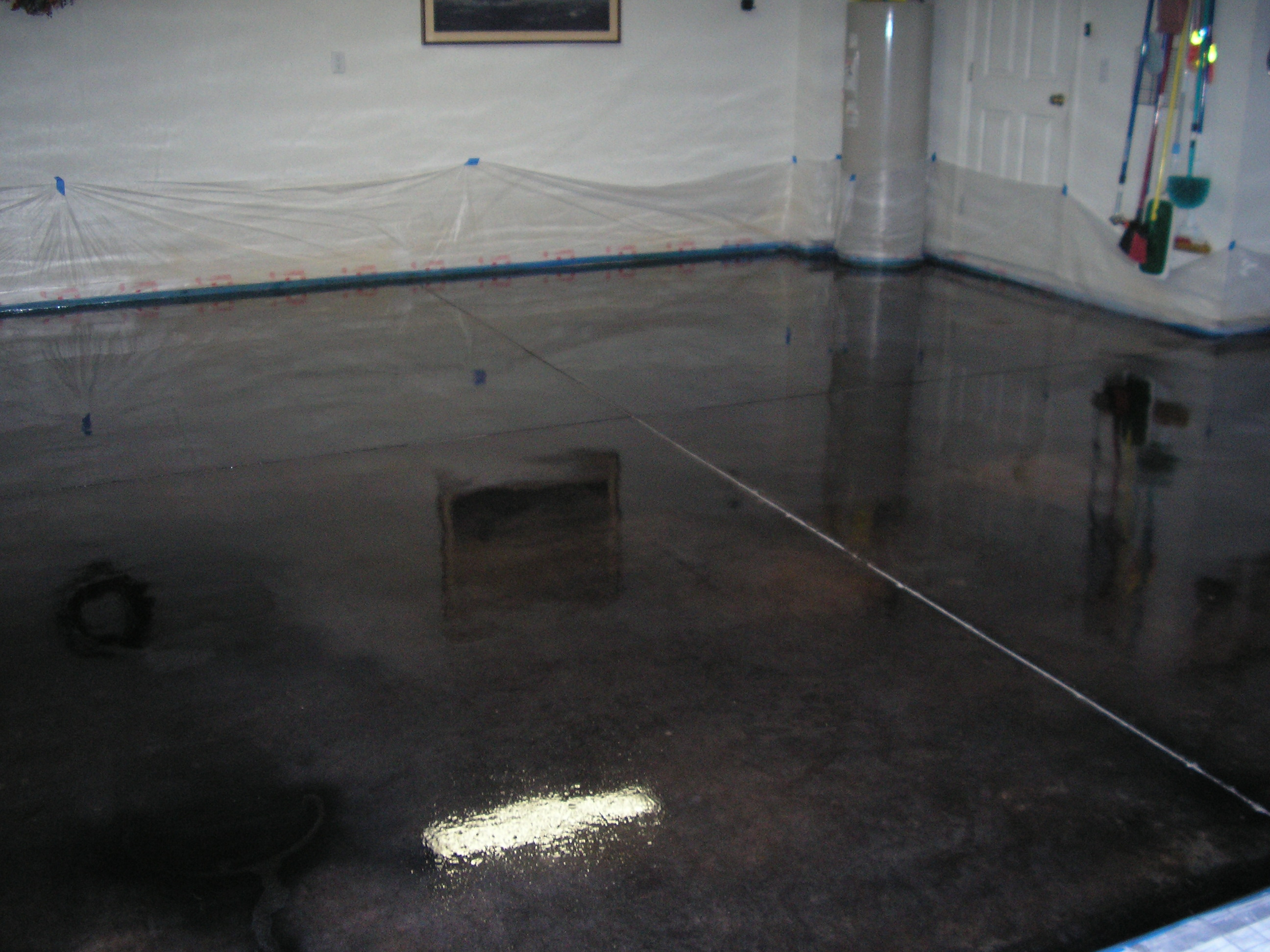 Acid stained concrete floors countertops dunlap garage for How to clean stained concrete garage floors