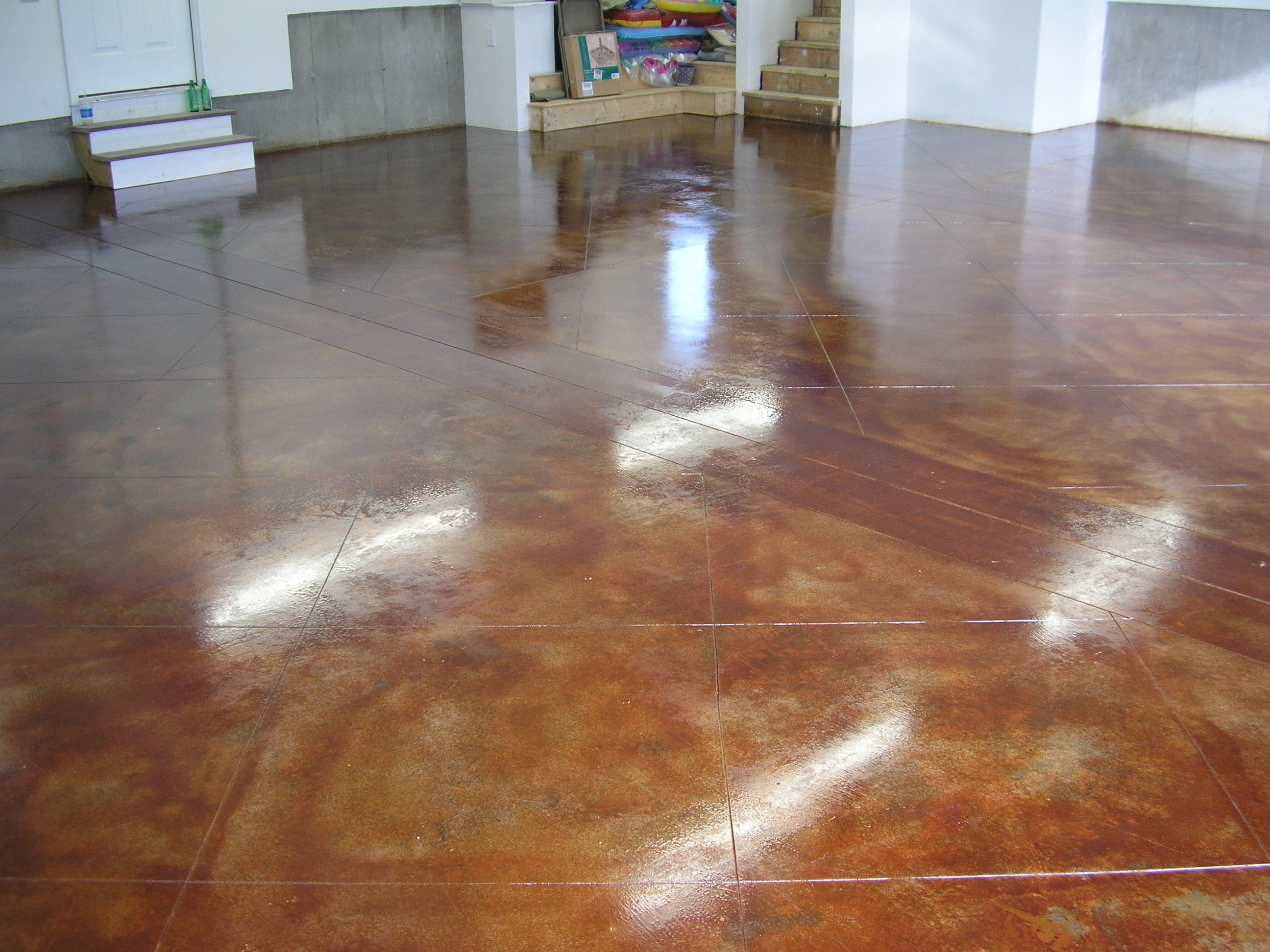 Acid stain garage floor 2017 2018 best cars reviews for How to clean stained concrete garage floors