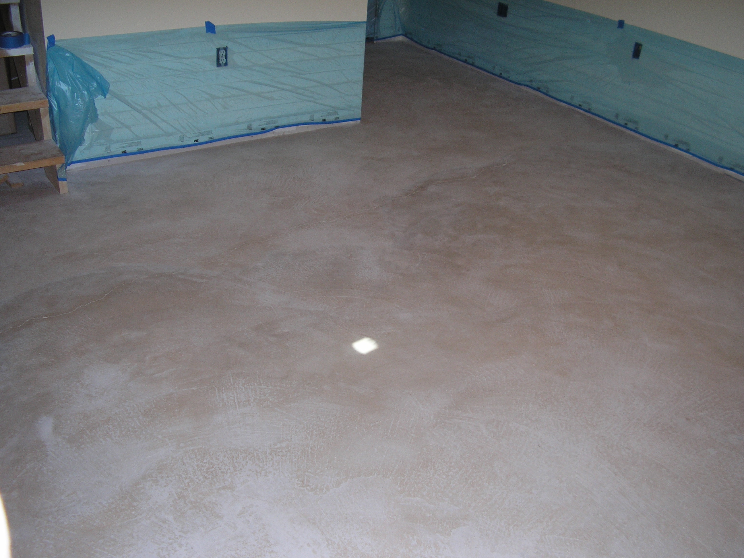 Click To Enlarge This Un Stained Basement Concrete Floor.