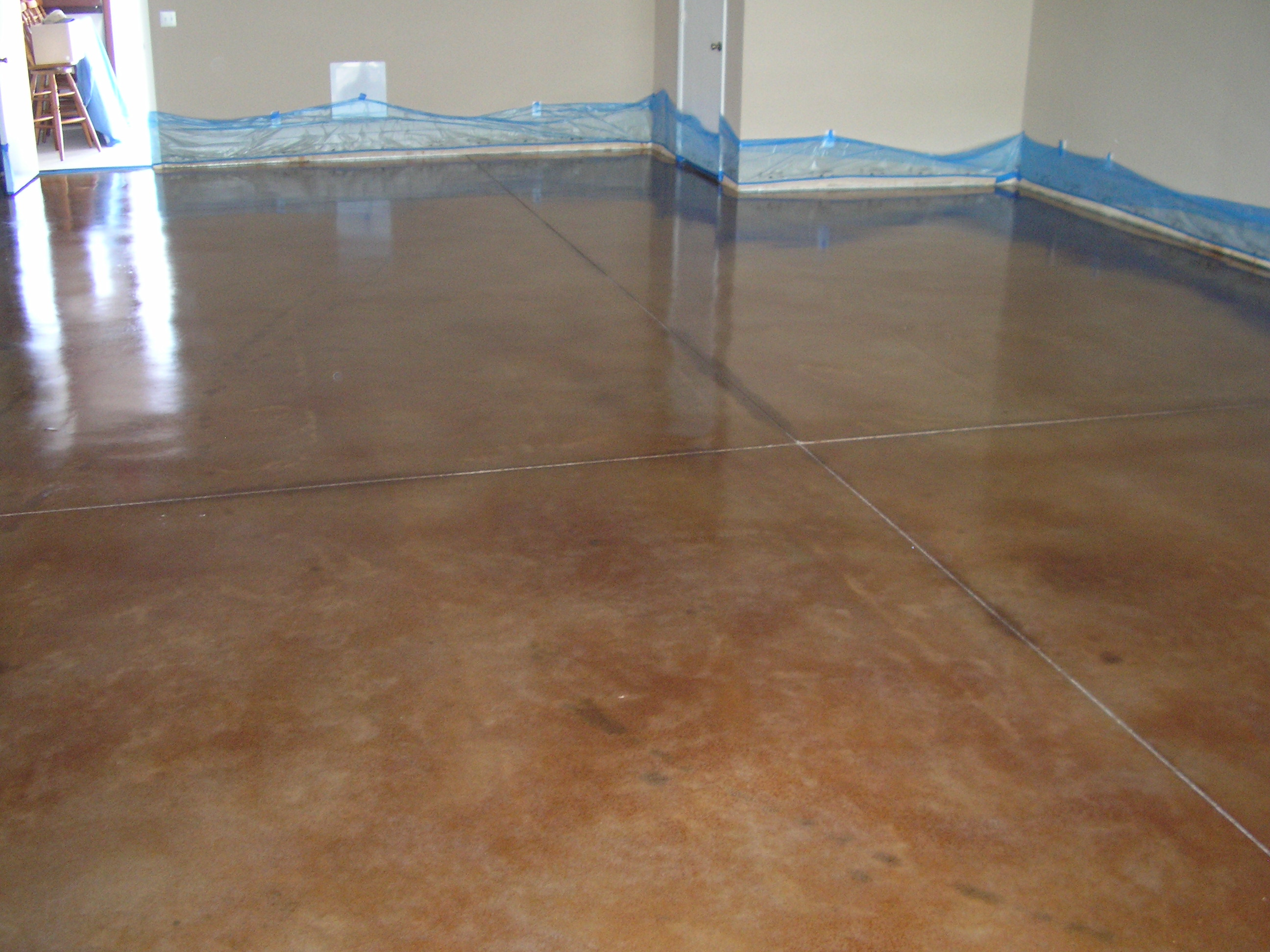 Acid stained concrete floors countertops office 3 for Stained concrete floors