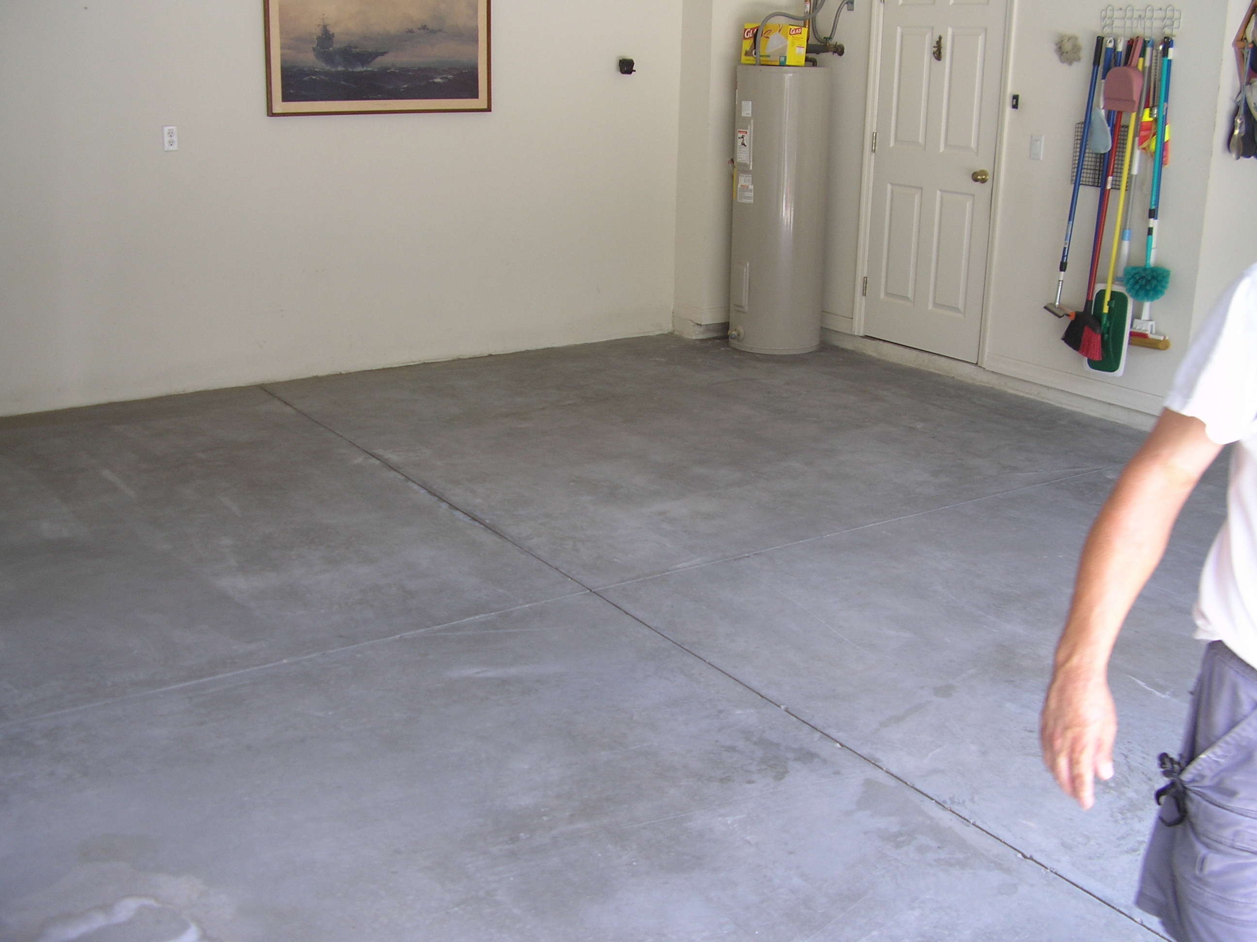 ... Concrete Garage Floor · C To Enlarge The Floor Before Acid Sn ...